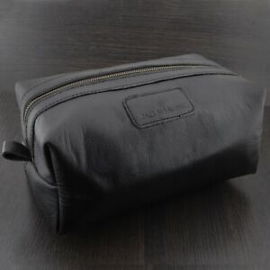 Travel Toiletry Bag Cow Leather Men's Shaving Travel Case Lining Waterproof
