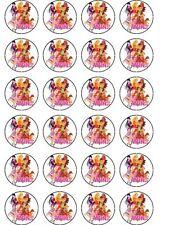24 x WINX Festa Carta di riso Cake Topper