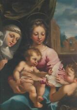 Postcard Virgin Mary & Child Baby Jesus & Young John Baptist Manetti Yale MINT