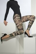 Footless Camouflage Tights New Adult Halloween Cristmas Womens Fever One Size