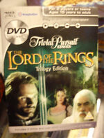 PARKER THE  LORD OF THE RINGS  TRILOGY TRIVIAL PURSUIT DVD . GAME IS COMPLETE