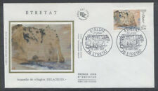 FRANCE FDC - 2463 1 ETRETAT PAR EUGENE DELACROIX - 12 Juin 1987 - LUXE sur soie