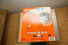 OFF! Clip-on Fan & 4 Refills Set Clip On Mosquito Repellent Mosquitoe Bugs OFF