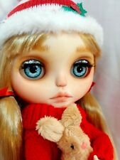 Christmas Ooak Custom Neo Blythe Doll - With Dress/Accessories