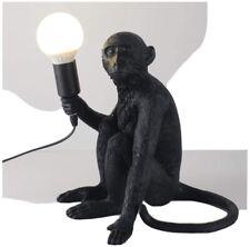 CHABEI Modern Table Light, Monkey Desk Lamp, Resin Sitting Monkey Lighting for