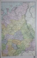 1907 Carte Nord East Russie Kostroma Viatka Orenburg