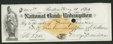 6 checks from 1880's with National Bank of Redemption RN-G1 stamped paper (7)