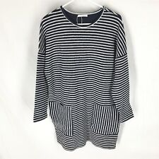 ZARA TRAFALUC STRIPE TUNIC DRESS SIZE MEDIUM Boxey Slouchy Womens Stretch