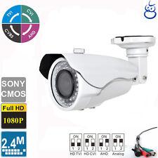 HD TVI 1080P Bullet Camera 2.4MP Sony CMOS 2.8-12mm Varifocal OSD 42 IR LED