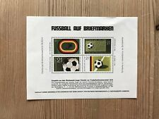 GERMANY WEST 1974 CARD FOOTBALL WORLD CUP SOUVENIR SHEET HOLLAND