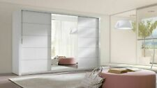MODERN BEDROOM WARDROBE 250 CM SLIDING DOOR / FAST DELIVERY !