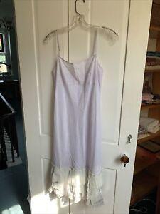 DOSA cotton slip dress with ruffle at hem Size 1 Palest Lavender
