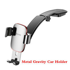 Silver Metal Gravity Car Phone Holder Dash Mount Stand for iPhone 8 X Samsung S8