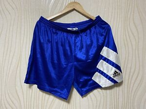 ADIDAS EQUIPMENT 90s FOOTBALL SOCCER SHORTS BLUE VINTAGE sz 46