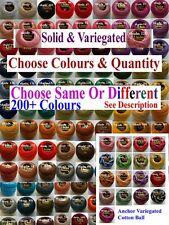 5 x ANCHOR Perlgarn Nr.8 Hakelgarn Filetgarn Baumwolle 220+ Farben Nachricht mir