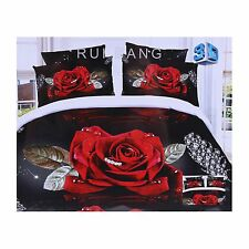 3D Black, Diamonds Duvet Cover & Two Pillowcases Set 160x200 RUI BANG