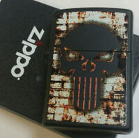 Zippo Punisher Skull Flaming Wall lighter Limited Edition Black Case NEW