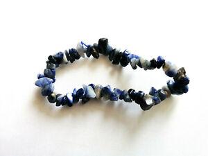 Sodalite gemstone chip bracelet stretch bracelet crystal healing Reiki
