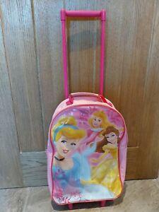 DISNEY PRINCESS Childrens Girls Wheeled Cabin Hand Luggage Suitcase Travel Bag