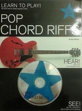"""LEARN TO PLAY! POP CHORD RIFFS"" MUSIC BOOK/CD-BRAND NEW ON SALE-EXTREMELY RARE"