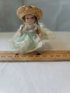 """Tiny 3"""" Bisque Doll in Elaborate Costume"""