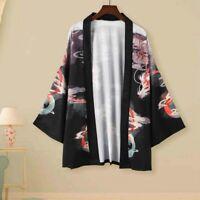 Men Lady Kimono Coat Yukata Outwear Cardigan Retro Chinese Dragon Jacket Top New