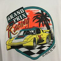Vtg Grand Prix Racing T Shirt 87' Retro Neon Tee Tuner Car S M L XL Race Car 80s