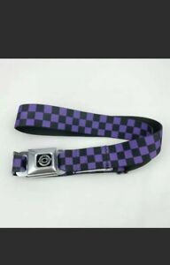 Buckle Down Chevrolet Purple Black Checkered Belt Adult One Sized OS Preowned