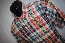 22634 Mens Pendleton Seaside Shirt Short Sleeve Plaid Camp Shirt Size Medium
