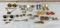 Lot of Men's Vintage Costume Jewelry Cuff Links Tie Clips Tack Pins Swank Hickok