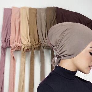 Muslim Stretch Turban Cap Inner Hijab Underscarf Bonnet Modal Caps Breathable