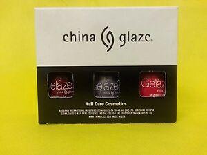 NEW 3X CHINA GELAZE LED/UV GEL POLISH 81810-81618-81633 Gel-n-Base SHIPSSAME DAY