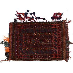 2' x 3'1 ft. Antique Orienta Vintage Hand-knotted Nomadic Rug (97 x 63) cm #6679