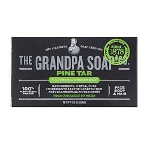 Grandpa's, Face Body & Hair Bar Soap, Pine Tar (120 g)
