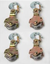 4xwire Rope Pulley Block 2ton Swivel Eye Hoist Hook Snatch Block Sheive Anodized