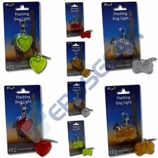 Minder Walk-Safe Dog Walking Flashing Reflective Collar Lead Safety Light Charm