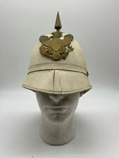 Indian Wars US Model 1890 Officer White Summer Dress Infantry Pith Helmet