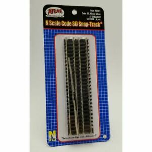 """Atlas 2501 - Code 80 5"""" Straight Section (6pcs)   - N Scale"""