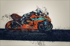 MOTOGP SUZUKI MOTORCYCLE RACING ART POSTER PRINT 24x36 HI RES