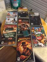 Lot Of 7 CIB Sony PSP Games Need For Speed Undercover Lego Sims Indiana Twisted