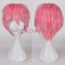 Latest Mens Boys Women Cosplay Wig Short Straight Anime Party Fancy Hair Wig lgo