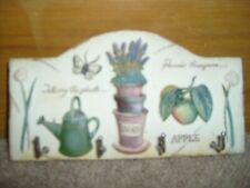 Marks & Spencer - Key Hook Plate -  Gardening Theme - Hand Painted.