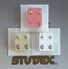 3 Par de Acero Inoxidable de bola de tamaño mezclado STUDEX PIERCING Studs - 1 par de cada