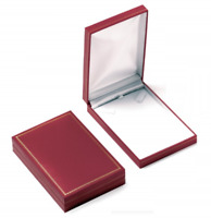Grand Écrin pour Collier / Parure Rouge - Boite Cadeau Cadre Doré - Bijoux