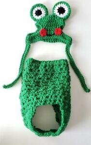 "Handmade Crocheted ""Frog"" Dog Costume- New"
