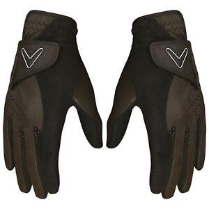 2021 Callaway Mens Opti Grip Golf Gloves 1 Pair Pack - Winter Storm Rain Warm