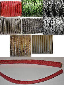 Eco Nappa Round Leather 6mm, 25cm, 50cm or 1 Meter String Lace Thong Jewellery