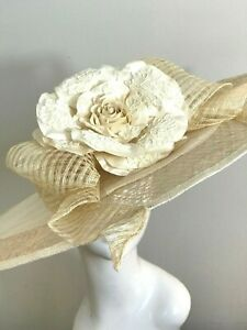 Exclusive Ivory Millinery by Hat Couture Wedding Bridal Race Hat