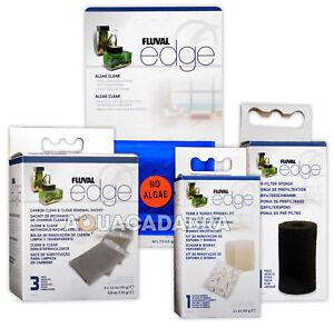 Fluval Edge Media Pre-Filter, Biomax, Clean & Clear Carbon, Algae Clear Aquarium