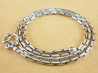 925 Sterling Silver Beading Crimpable Boston Link Snake Chain Necklace 2.2mm 20""